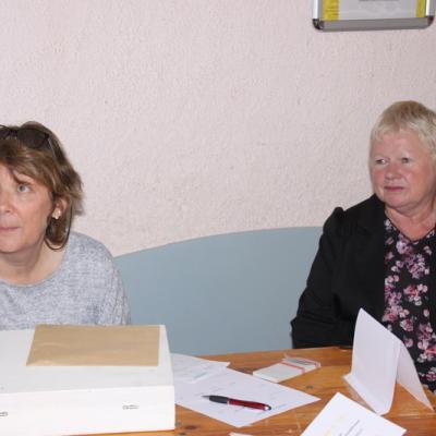Nicole notre secrétaire et notre trésoriere  à G Cécile